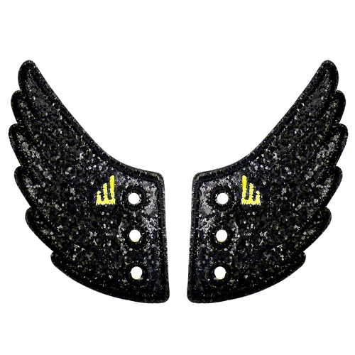 Shwings Wings Shoes Glitter Black-ACCESSORIES-SHWINGS-Billie & Axel, Montreal, Canada & USA