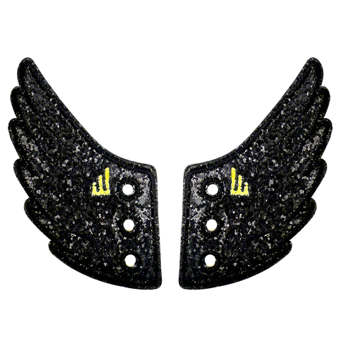 Shwings Wings Shoes Glitter Black