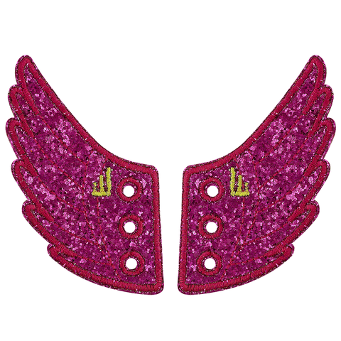 Shwings Wings Shoes Glitter Fuchsia Pink
