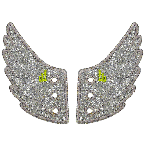 Shwings Wings Shoes Glitter Silver-ACCESSORIES-SHWINGS-Billie & Axel, Montreal, Canada & USA