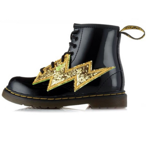 Shwings Shoes Lightning Bolt Gold
