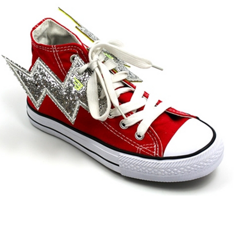 Shwings Shoes Lightning Bolt Silver