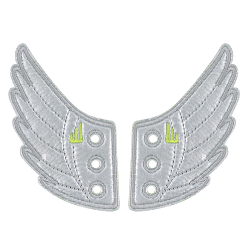 Shwings Shoes Wings Silver-ACCESSORIES-SHWINGS-Billie & Axel, Montreal, Canada & USA