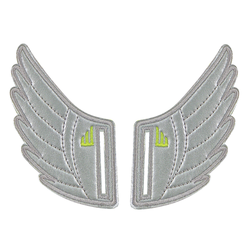 Shwings Velcro Shoes Wings Silver-ACCESSORIES-SHWINGS-Billie & Axel, Montreal, Canada & USA