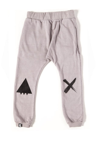MINI AND MAXIMUS ORGANIC COTTON SMILE DROP CROTCH PANT COOL GRAY Billie & Axel, Montreal, Canada