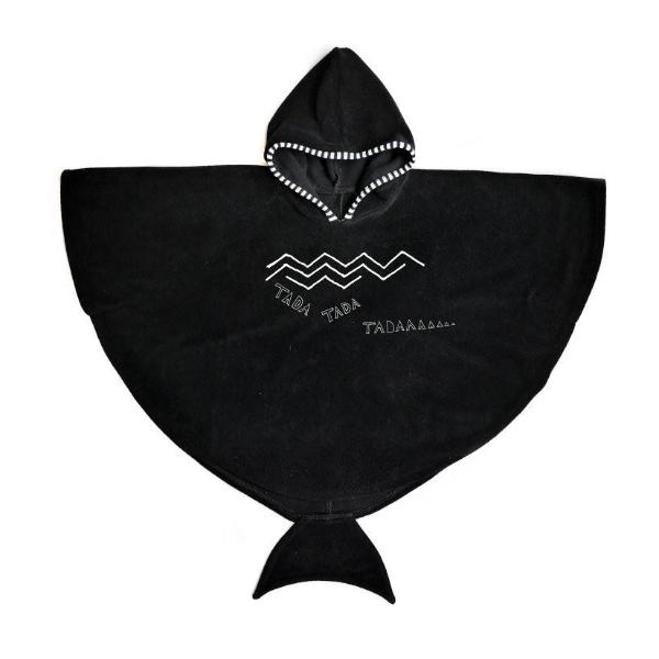 Sproet & Sprout Cape Bath Towel Black Billie & Axel, Montreal, Canada & USA.