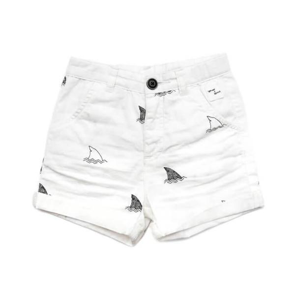 Sproet & Sprout Shorts Print Shark Off White Billie & Axel, Montreal, Canada & USA.