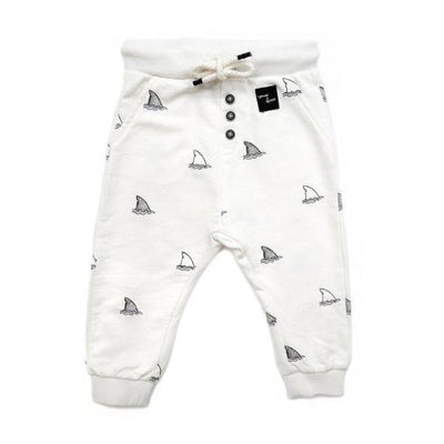 Sproet & Sprout Sweatpants Embroidery Shark Off White Billie & Axel, Montreal, Canada & USA.