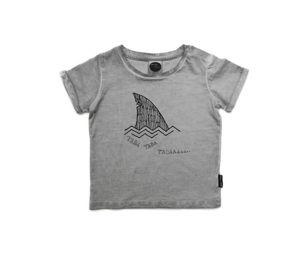 SPROET & SPROUT TEE PRINT SHARK LIGHT GREY Billie & Axel, Montreal, Canada