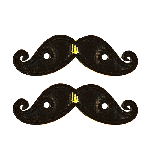 Shwings Shoes Black Foil Mustache-ACCESSORIES-SHWINGS-Billie & Axel, Montreal, Canada & USA