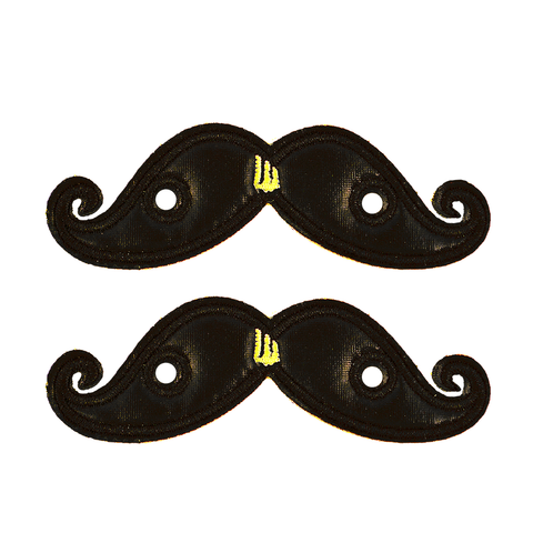 Shwings Shoes Black Foil Mustache
