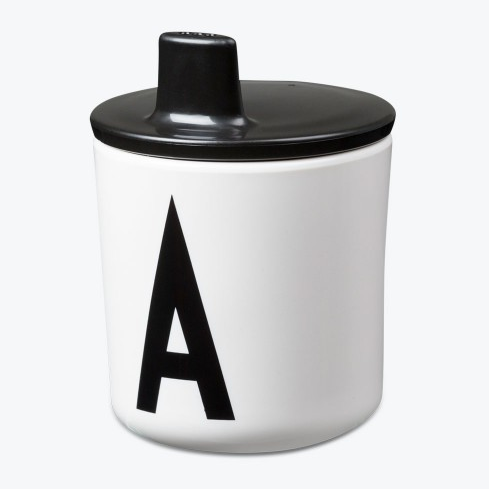 DESIGN LETTERS BLACK LID FOR MELAMINE CUP