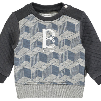 NOPPIES Sweater ls Tracy aop Charcoal