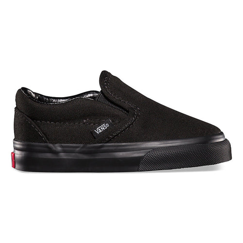 VANS CLASSIC SLIP ON BLACK / BLACK (TODDLERS)-SHOES-VANS-Billie & Axel, Montreal, Canada & USA