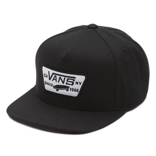 VANS BOYS FULL PATCH SNAPBACK HAT BLACK-ACCESSORIES-VANS-Billie & Axel, Montreal, Canada & USA