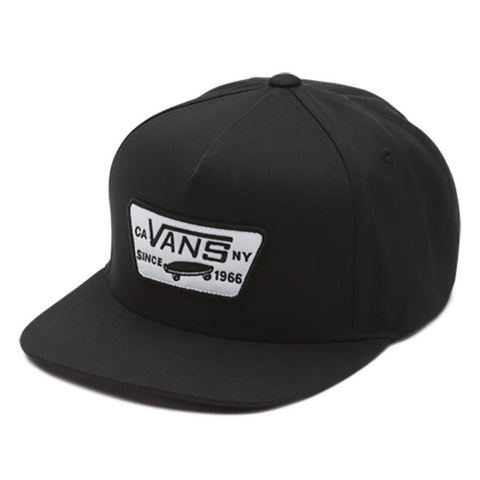 VANS BOYS FULL PATCH SNAPBACK HAT BLACK