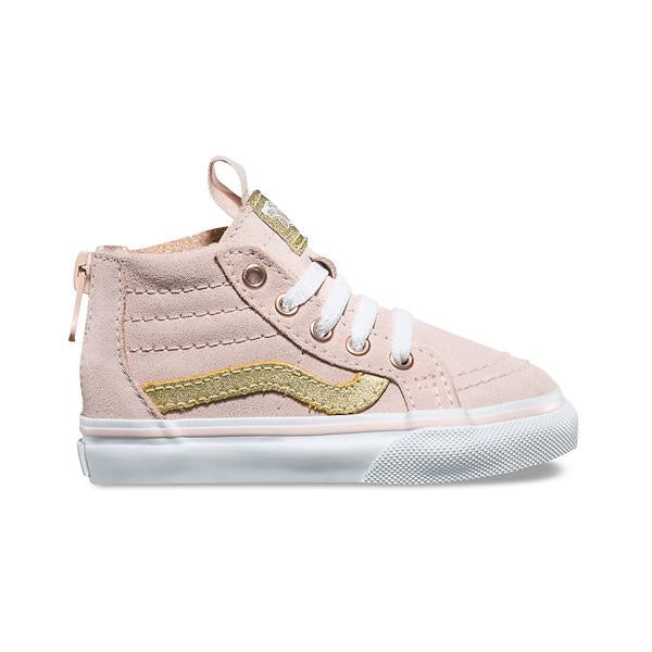 VANS SK8-HI SEPIA PINK GOLD TODDLER GIRLS-SHOES-VANS-Billie & Axel, Montreal, Canada & USA