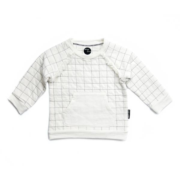 "SPROET & SPROUT SWEATER ""GRID"" WHITE"