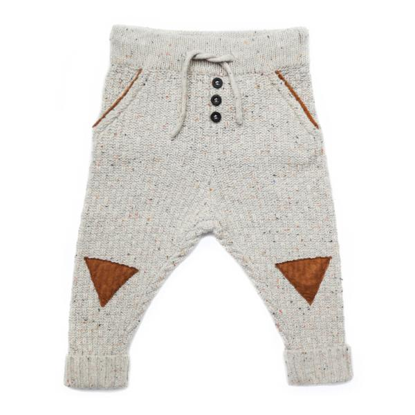 Sproet & Sprout Knit Baby Pants Triangle Billie & Axel, Montreal, Canada