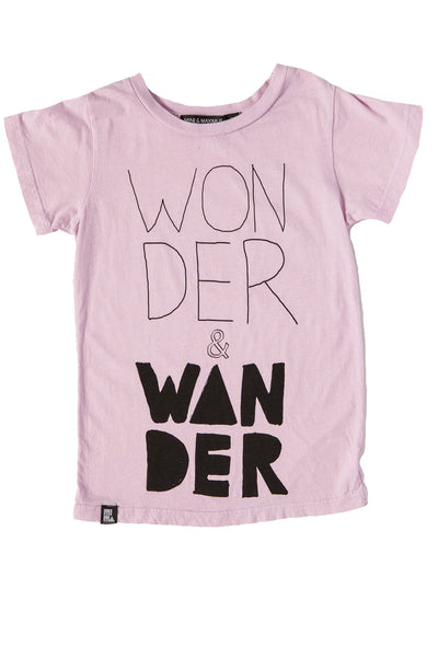 MINI AND MAXIMUS WANDER ORGANIC COTTON TEE PINK Billie & Axel, Montreal, Canada