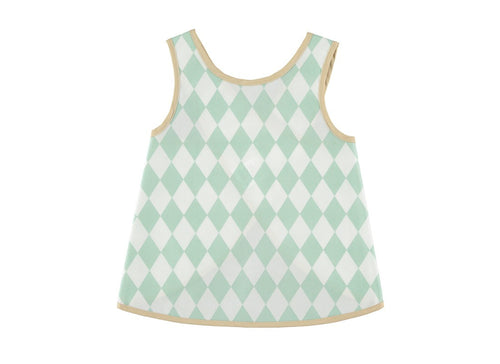 NOBODINOZ APRON GREEN DIAMONDS 12-18M