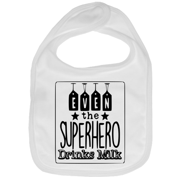 "ByLZB BIB COTTON ""SUPERHERO"""
