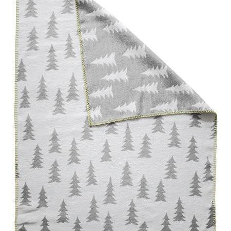 FINE LITTLE DAY GRAN BLANKET BRUSHED ECO COTTON GREY/YELLOW EDGE