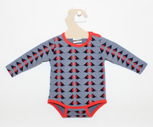 L'Asticot Organic Cotton Onesie Red Birds-ONESIE-L'ASTICOT-Billie & Axel, Montreal, Canada & USA