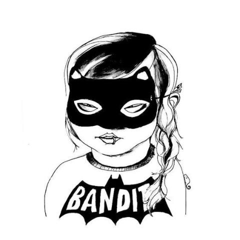 BANDIT GIRL POSTER MINI AND MAXIMUS