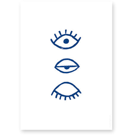 FINE LITTLE DAY EYE EYE POSTER BLUE