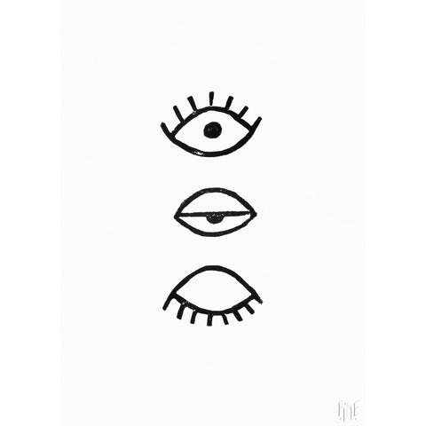 FINE LITTLE DAY EYE EYE POSTER BLACK