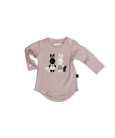 Huxbaby Bunny Long Sleeve Top Plum Billie & Axel, Montreal, Canada