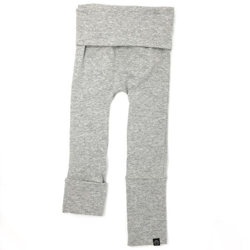 Evolo Grow with Me Maxiloones Pants Bamboo Heather Grey-EVOLO PANTS-Miminoo Montreal Canada USA.