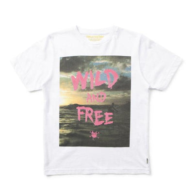 Munsterkids Boys Tee White Wild And Free-TOP-MUNSTERKIDS-Billie & Axel, Montreal, Canada & USA
