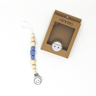 Miminoo 2 in 1 baby teether & pacifier clip Baby Blue Billie & Axel, Montreal, Canada & USA