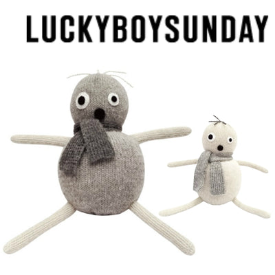 luckyboysunday POP WHITE Handmade Alpaca Billie & Axel, Canada & USA
