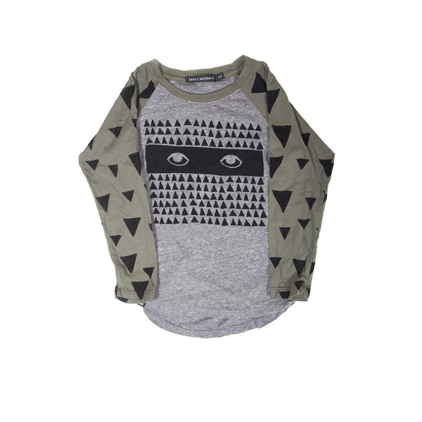 MINI AND MAXIMUS TRIANGLE MONSTER RAGLAN