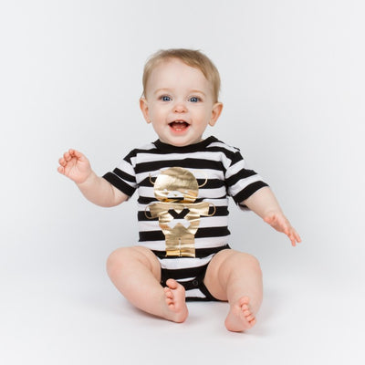 Huxbaby soldier bear onesie stripe at Billie & Axel, Montreal, Canada