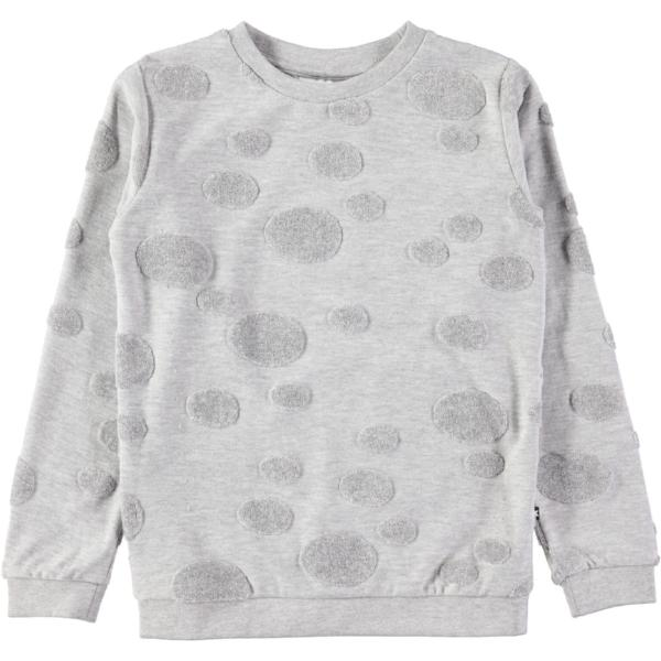 Molo Manee Sweat shirt Light Grey Melange w/ Dots at Billie & Axel Montreal Canada & Usa