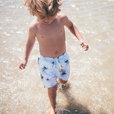 Sproet & Sprout Swim Short Jellyfish White Billie & Axel Montreal Canada