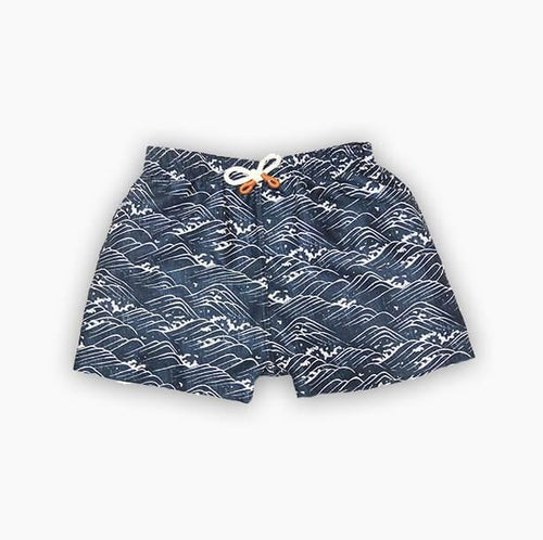 Sproet & Sprout Swim Short Waves Blue at Billie & Axel, Montreal, Canada & USA