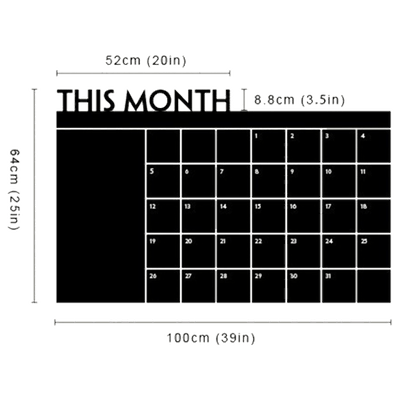 CALENDAR DIY WALL DECAL MONTHLY ORGANIZATION