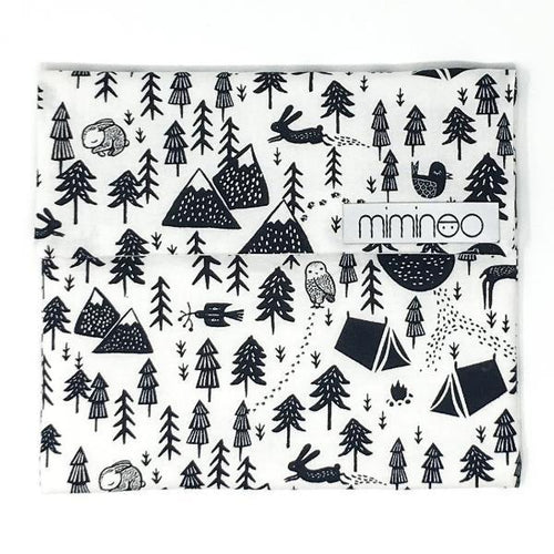 Reusable Snack/lunch bag Forest Dreaming White-SNACKBAGS-Miminoo Montreal Canada USA.