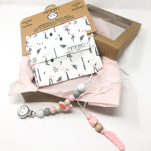 Bundle Gift Set Mom & Baby Flamingo