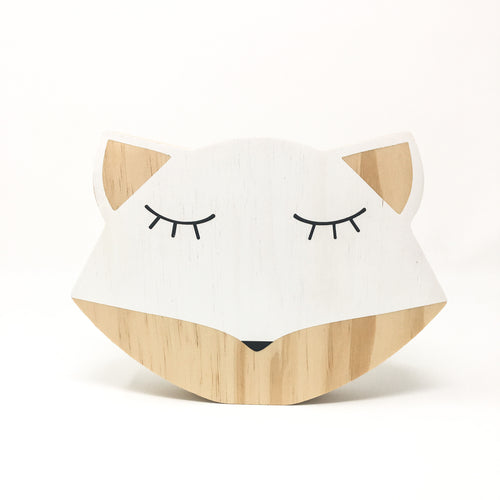Wooden Fox Kids Room Decoration-WOOD DECORATION-MODERN KIDS SOCIETY-Billie & Axel, Montreal, Canada & USA