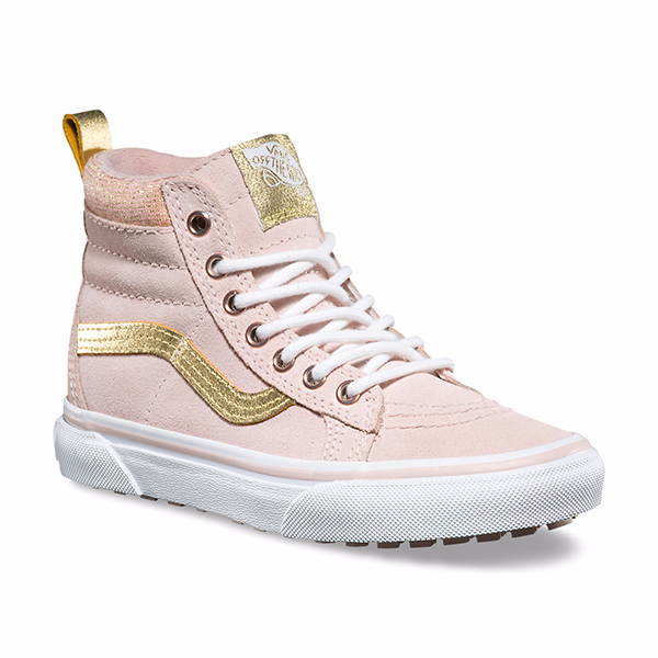 ca0ffd578ba Vans sk8-hi sepia pink gold at Billie   Axel