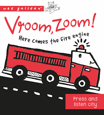 "WEEGALLERY BABY PRESS & LISTEN BOOK ""VROOM, ZOOM"""