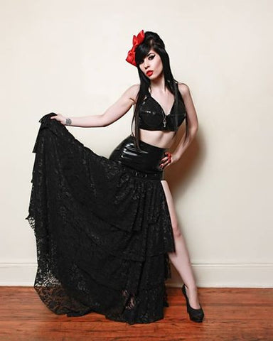 Latex and Lace Claudette Skirt