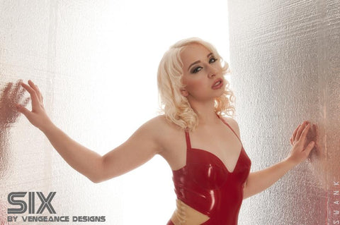 Latex Cosplay: Six from Battlestar Galactica