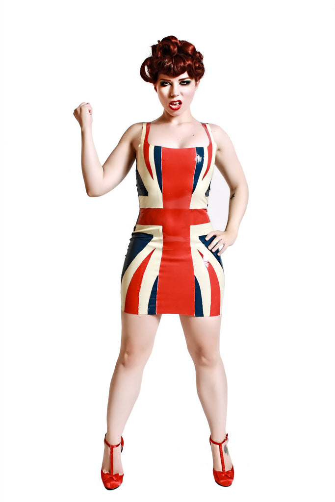 Latex Union Jack Dress